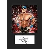 John Cena WWE # 3montado foto firmada A5impresión