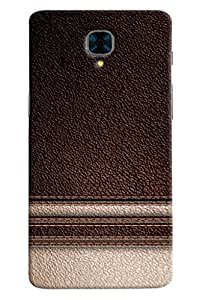 Omnam Brown Leather Pattern Cream Shade Effect Printed Designer Back Cover Case For OnePlus Three
