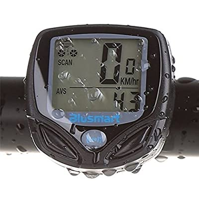 Blusmart Wireless Bike Computer Automatic Wake-up Backlight for Tracking Riding Speed and Distance, Waterproof from CYUK