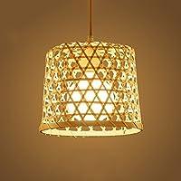 WANGLucky Lámpara de Techo de bambú Natural Que Teje Alta Sombra Transparente de la lámpara Dormitorio de la Sala de Estar del Restaurante lámpara de Techo del café (Tamaño : Solo Cabezal)