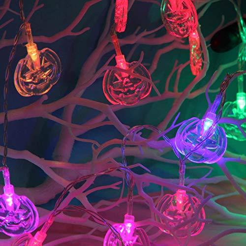 CCOOfhhc Halloween-Lichterkette, Kürbis-Licht Tür-Dekoration Lichter mit LED-Lichtern für den Außenbereich, Weihnachten, Party-Dekoration B