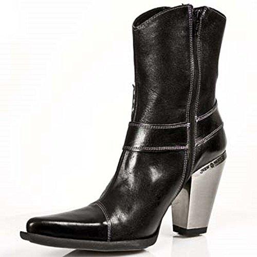 New Rock M.7919-S1 Alle Stiefel aus Leder Black