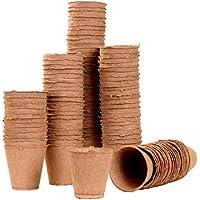 120macetas de redondo 11cm de diámetro, biolog. biodegradable. 92013