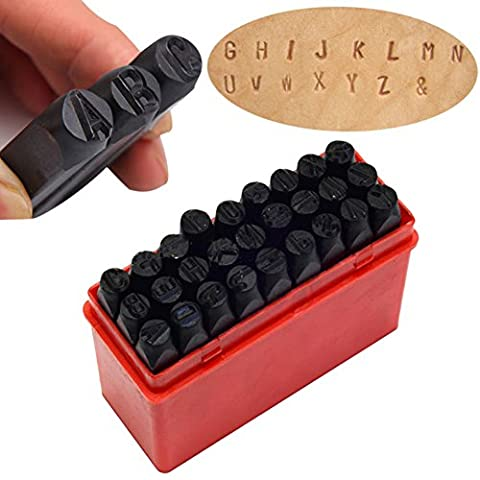 Hrph Letter Stamp Punch Set Hardened Steel Metal Alphabet Letter Wood Leather Punch Tool Craft