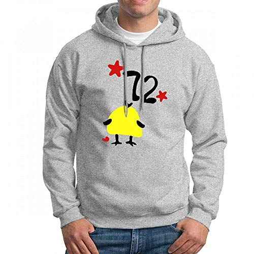 ruziniujidiangongsi Custom Number 72 Yellow Bird Men's Pullover Logo Hoodie Custom Sweater