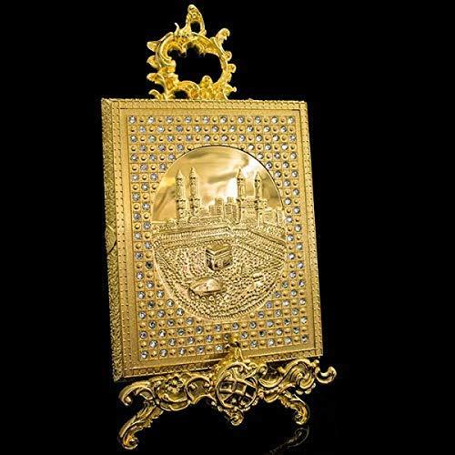 Dekonaz | Koranbox | mit Ständer | Metall | Gold |