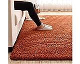 Mengjie Tatami Lamm Samt rechteckigen Teppich Wohnzimmer Sofa Couchtisch Schlafzimmer Teppich Matte voller Shop, 140 * 200cm, braun