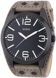Reloj Guess W0181G3 de cuarzo para hombre con correa de piel, color gris de Guess