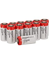 AmazonBasics Lot de 12 piles lithium CR123A 3V