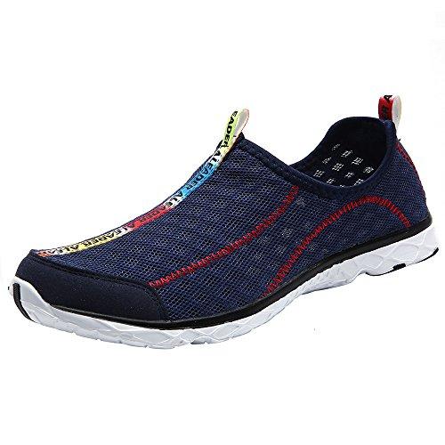 aleader Chaussures de maille antidérapant sur l'eau pour femme Bleu - Bleu marine