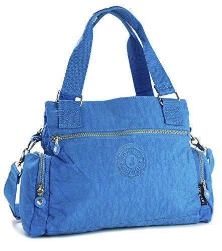 Big Handbag Shop - Borse a spalla unisex (Deep Sky Blue)