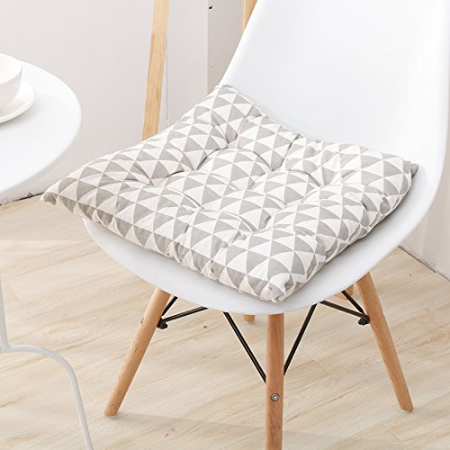 WDZA Le Coussin De Chaise Simple Office Étudiants Classe Pique-Nique Jardin Assise, 42X42Cm, Triangle Gris