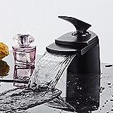 Wasserhähne Messing Kalt-und Warmwasser Mixer Bad Mischbatterien Orb Schwarz Wasserfall Wasserhahn Garderobe Waschbecken Mischbatterie Wasserhähne