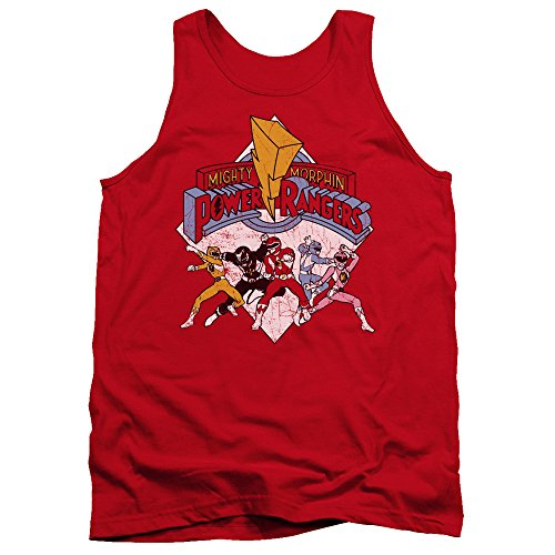 Power Rangers - Männer Retro-Rangers Tank Top, XX-Large, Red