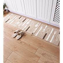 Tira larga de Domésticos de Cocina Sala de estar Tapetes polvo absorbente Mat, Felpudo Recepción Inicio Mat dormitorio cama, 2.4m alargado Mats ( Color : B , Tamaño : 45*180cm )