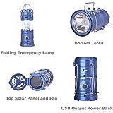 AruraMultifunctional LED Solar Emergency Light Bulb Mini Fan Camping Lamp