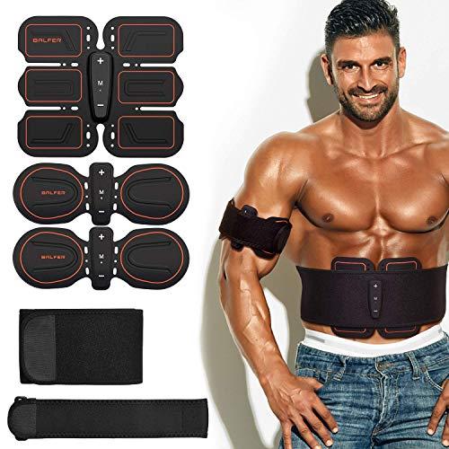 Balfer stimolatore muscolare, elettrostimolatore addominali uomo e donna, braccia, gambe, ems fascia elettrostimolatore per addominali (stimolatore addominali)