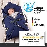 Schubidoo baby's bag in blau   Baby Multifunktions Tasche 5 in 1   geeignet zum Spielen, Wickeln, Pucken, Schlafen und als Baby Tragetasche oder Einschlafhilfe