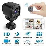 HEYSTOP Mini Kamera WiFi, überwachungskamera Spion Versteckte Kameras WLAN 1080P Überwachung Kamera Kindermädchen-Kamera mit Bewegungserkennung Nachtsicht, Fotografieren für Heim und Büro Sicherheit
