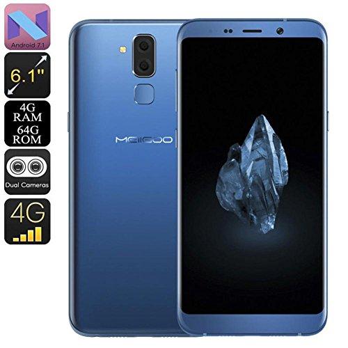 Preisvergleich Produktbild Routinfly MEIIGOO S8 Smartphone Android 7.0 Dual-IMEI-CPU Octa-Core-RAM 4 GB 6.1 Zoll (Blue)