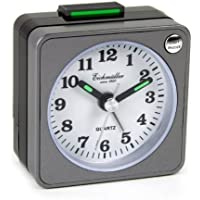 Despertador reloj Despertador analógico de repetición de alarma luz gris