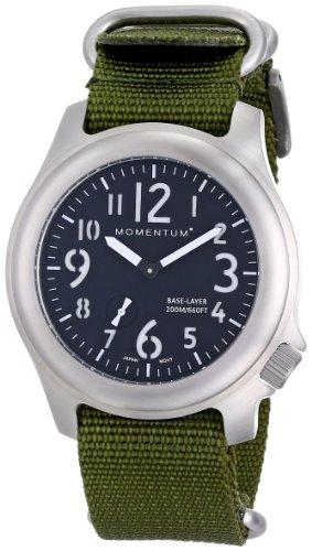Momentum® 1M-SP76B7G - Orologio da polso, uomo, nylon, colore: verde