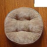 LJ&XJ Bodenkissen,Verdickte Sitz Kissen stuhlkissen erhöhung für büro erker Student hocker Sofa sitzbank Kissen Weich Warm Yoga sitzkissen-C Durchmesser52cm(20inch)