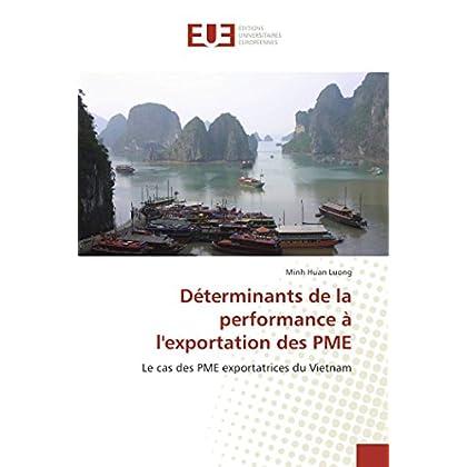 Déterminants de la performance à l''exportation des pme