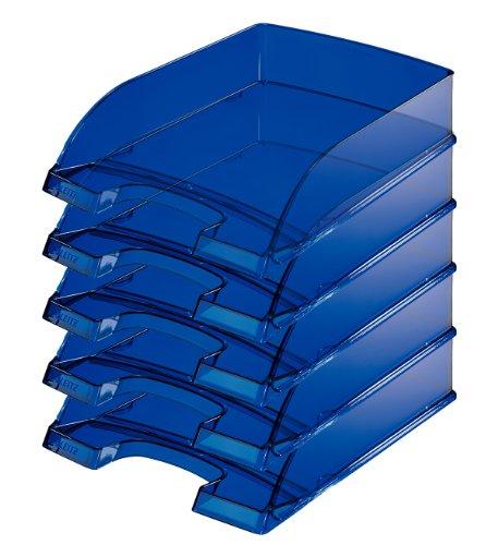Leitz Plus, cartonaggio 70mm, 5pezzi Höhe 70 mm Blu scuro trasparente