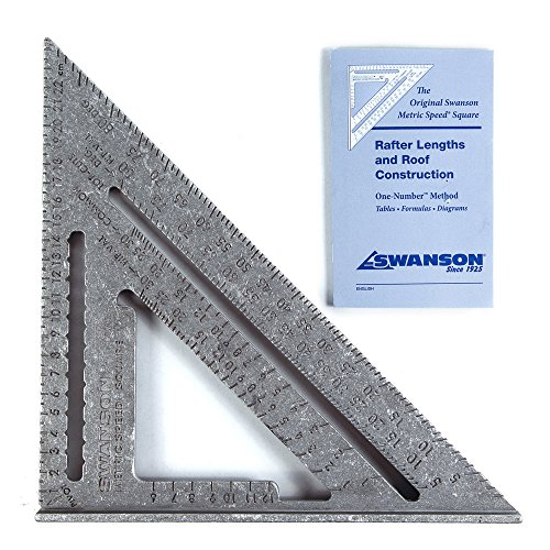 Swanson Tool Speed Square S0101Geo-Dreieck mit Anschlagwinkel, Metric (25 cm)
