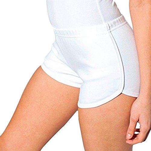 Dihope Damen Sport Short Yoga Kurze Hose Stretch Retro Schorts Hot Pants (Hot-yoga-pants)