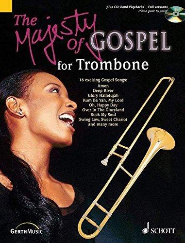 RIEGER J MAJESTY OF GOSPEL FOR TROMBONE BOOK/CD by Jochen Rieger (2004-05-01)