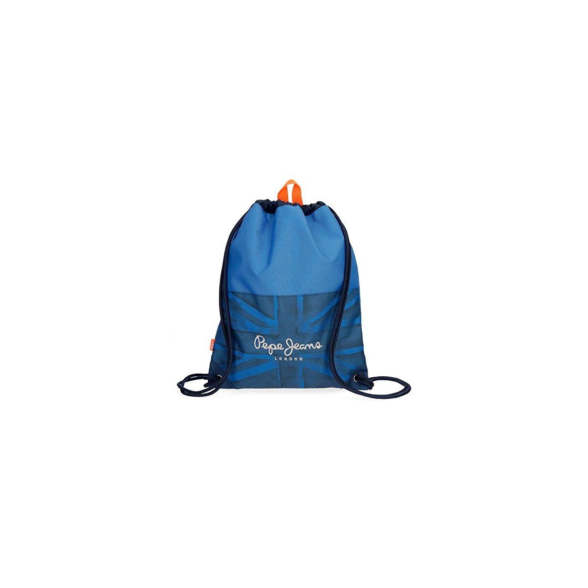 517cEDUgExL. SS1200  - Pepe Jeans Fabio Mochila Tipo Casual, 44 cm, 0.77 litros, Azul