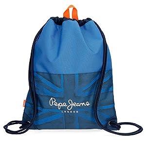 517cEDUgExL. SS300  - Pepe Jeans Fabio Mochila Tipo Casual, 44 cm, 0.77 litros, Azul
