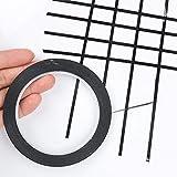 Wizerd Lot de 8 rouleaux de ruban adhésif fin non-magnétique pour tableau blanc 3mm