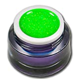 5ml Farbgel Neon Glitter Magic Grün Regenbogen Premium Colorgel RM Beautynails
