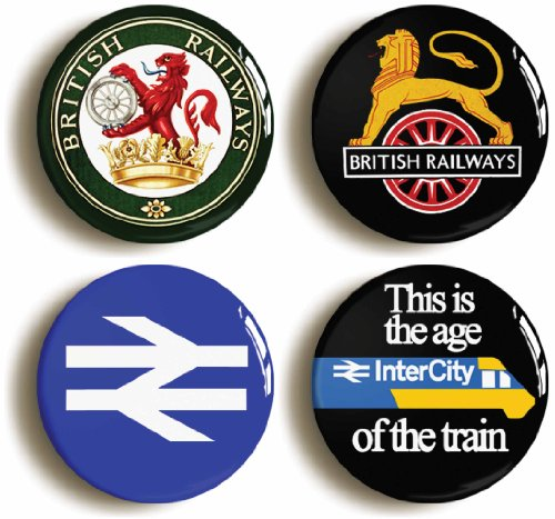4-x-british-rail-railways-retro-logo-badges-buttons-pins-1inch-25mm-diameter