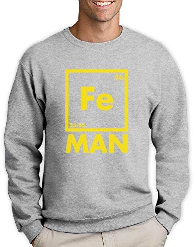 Green Turtle T-Shirts Iron Fe Man - Lustiges Männergeschenk Sweatshirt Small Grau
