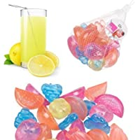 Reusable Assorted Fruit Shaped Ice Cubes - 18 Pieces