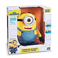 You'll have lots of fun and laughter with this 11 inch Tumblin' Stuart Talking Plush. Watch as Minion Stuart tumbles and rises again. Minion Stuart's arms move as he tumbles. Press the button on top of his head to see Minion Stuart do funny a...