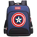 Large Marvel American Captain's Schoolbag with Glittering light Primary School Boys Backpack Children's Reduced Shoulder...