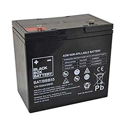 12V 55Ah BBB Sealed Lead Acid (AGM) Mobility Scooter Battery