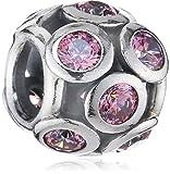 Pandora Damen-Charm 925 Sterling Silber Zirkonia rosa 791153CZS