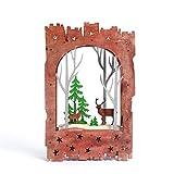 Lu Decoracion Navideña|Luz|Marco De Fotos|Navidad|Bosque Y Cervatillo|Adornos Decorativos