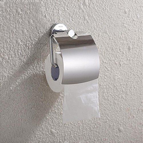 TRRE Tout le support en papier de papier de cuivre de cuivre avec les accessoires de salle de bains de support de papier de couverture, 145 * 60 * 115MM