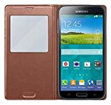 Samsung S-View Schutzhülle Case Cover mit Sichtfenster für Galaxy S5 - Rose Gold
