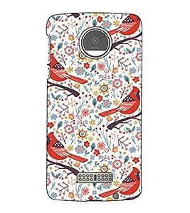 Fuson Designer Back Case Cover for Motorola Moto Z Force :: Motorola Moto Z Force Droid for USA (Birds On the tree theme)