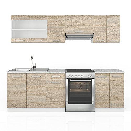 kuche-240-cm-kuchenzeile-kuchenblock-einbaukuche-eiche-sonoma