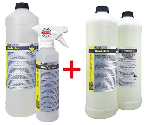 BioActive Universal | Biologischer Geruchsneutralisierer mit Wirkbeschleuniger | Natürlich, hygienisch und  dauerhaft | Konzentrat | Vorteilspaket für 6 L | Gegen Uringeruch, Nikotingeruch, etc.