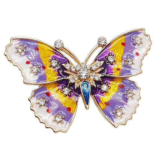 YouBella Jewellery Valentine Collection Designer Butterfly Shape Saree Pin / Brooch for...